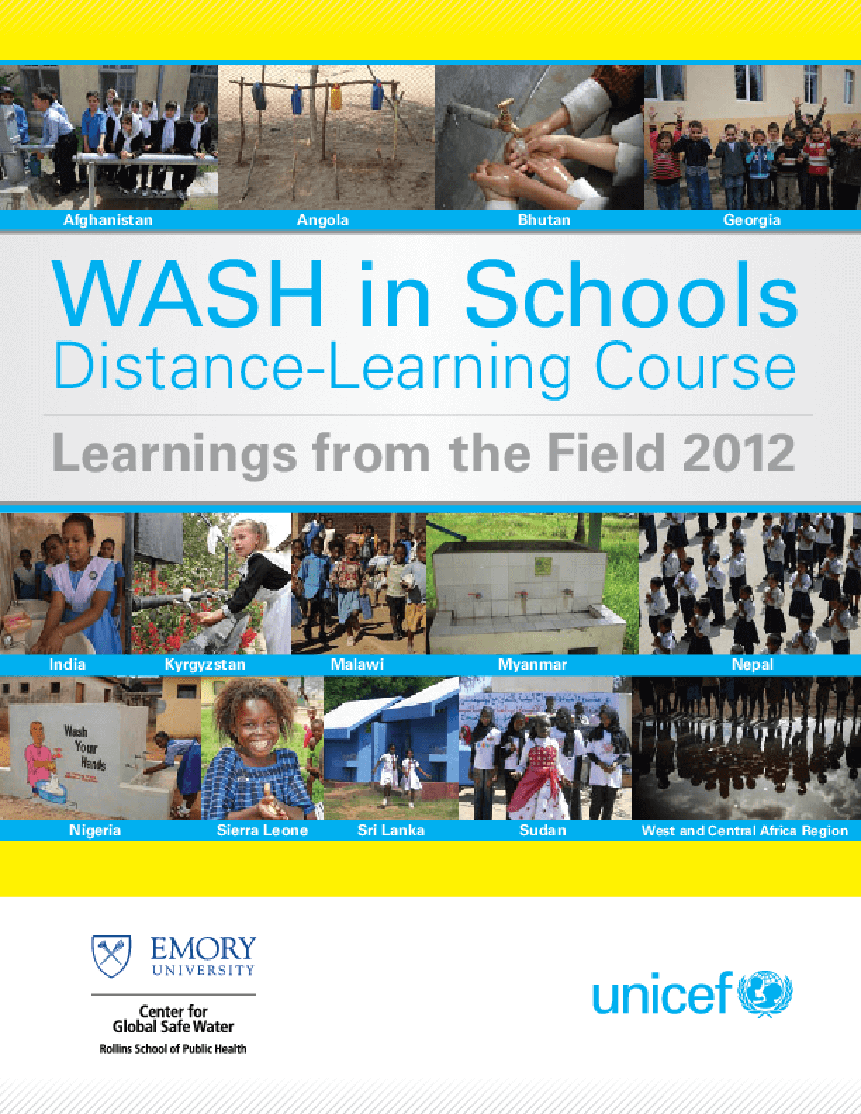WASH in Schools Distance Learning Course: Learnings from the Field 2012