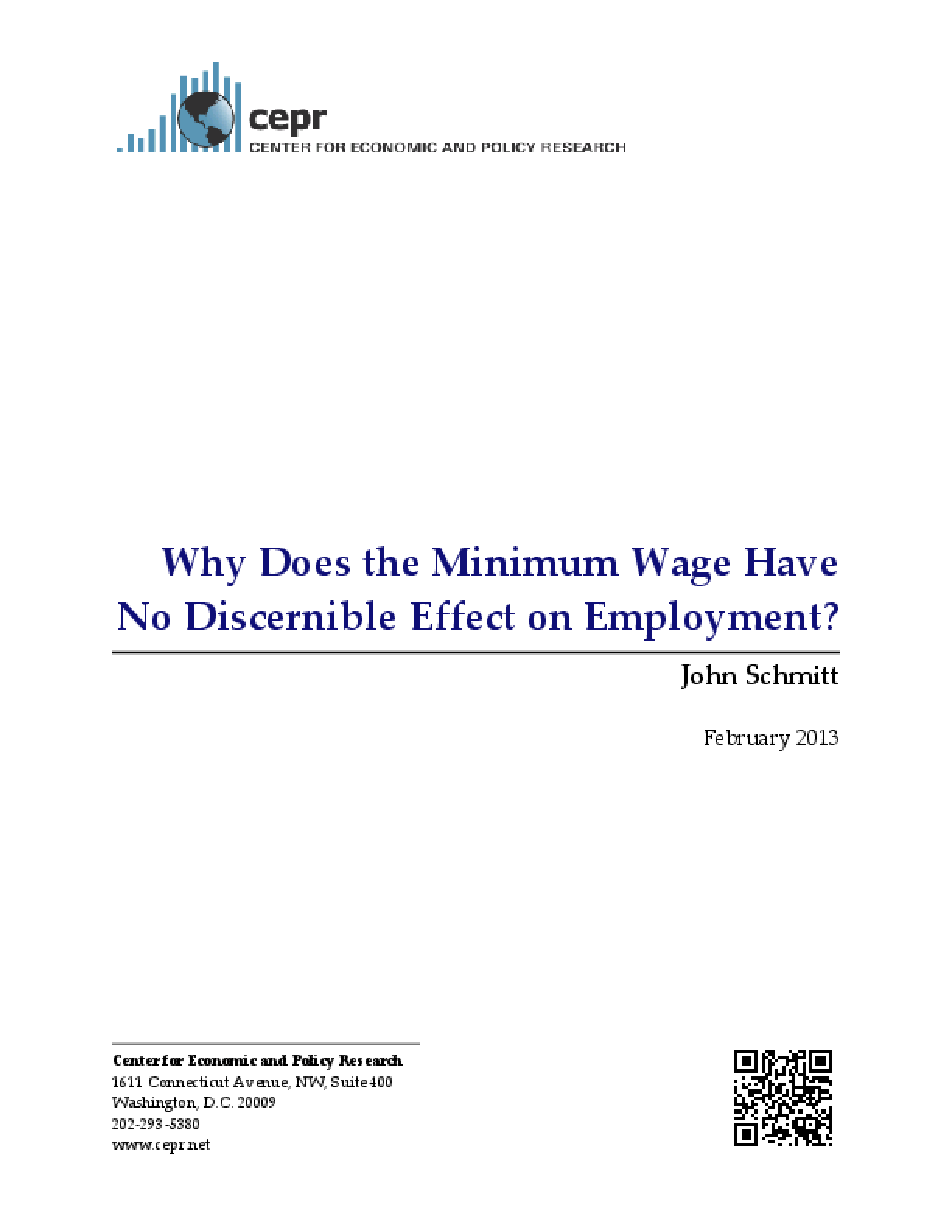 Why Does the Minimum Wage Have No Discernible Effect on Employment?