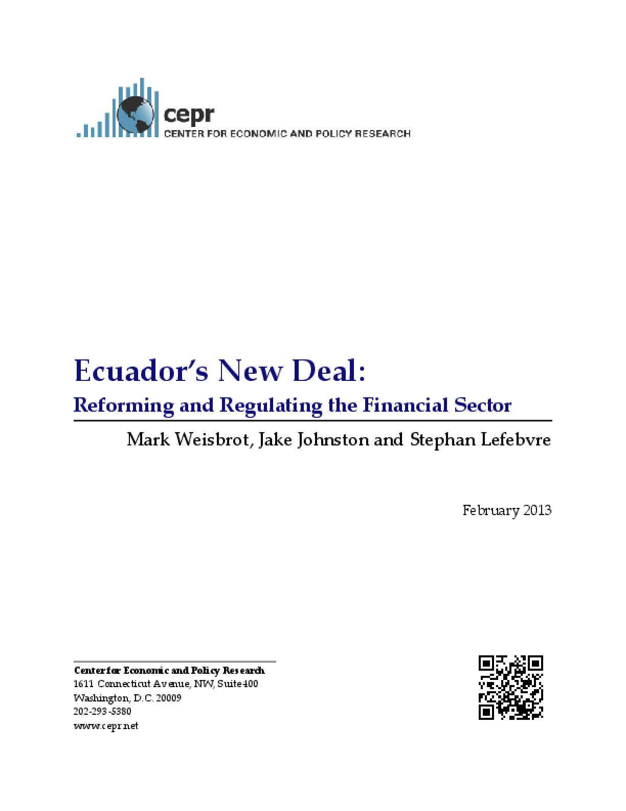 Ecuador's New Deal: Reforming and Regulating the Financial Sector