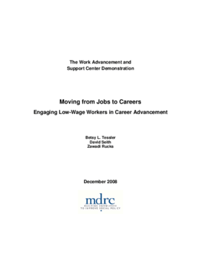 Moving from Jobs to Careers: Engaging Low-Wage Workers in Career Advancement