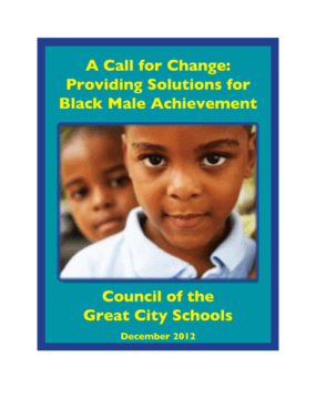 A Call for Change: Providing Solutions for Black Male Achievement