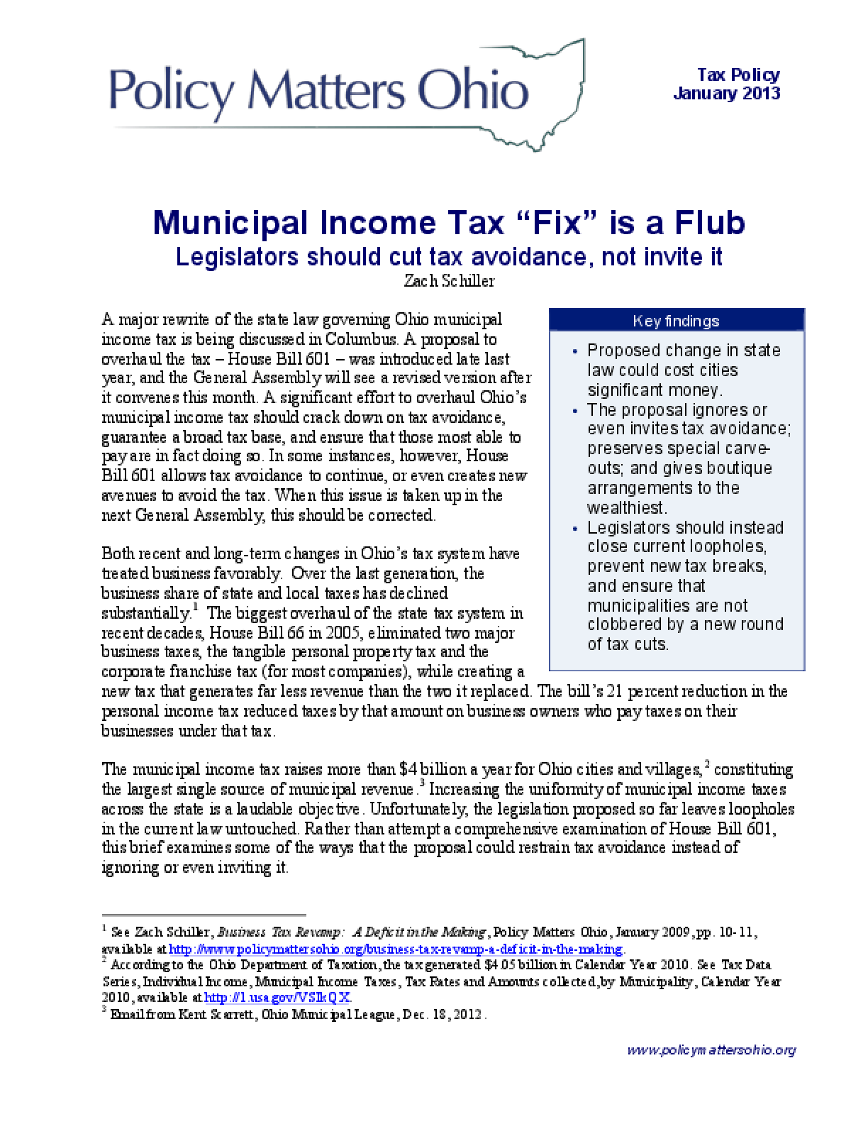 "Municipal Income Tax ""Fix"" is a Flub: Legislators should cut tax avoidance, not invite it"