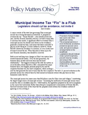 """Municipal Income Tax """"Fix"""" is a Flub: Legislators should cut tax avoidance, not invite it"""