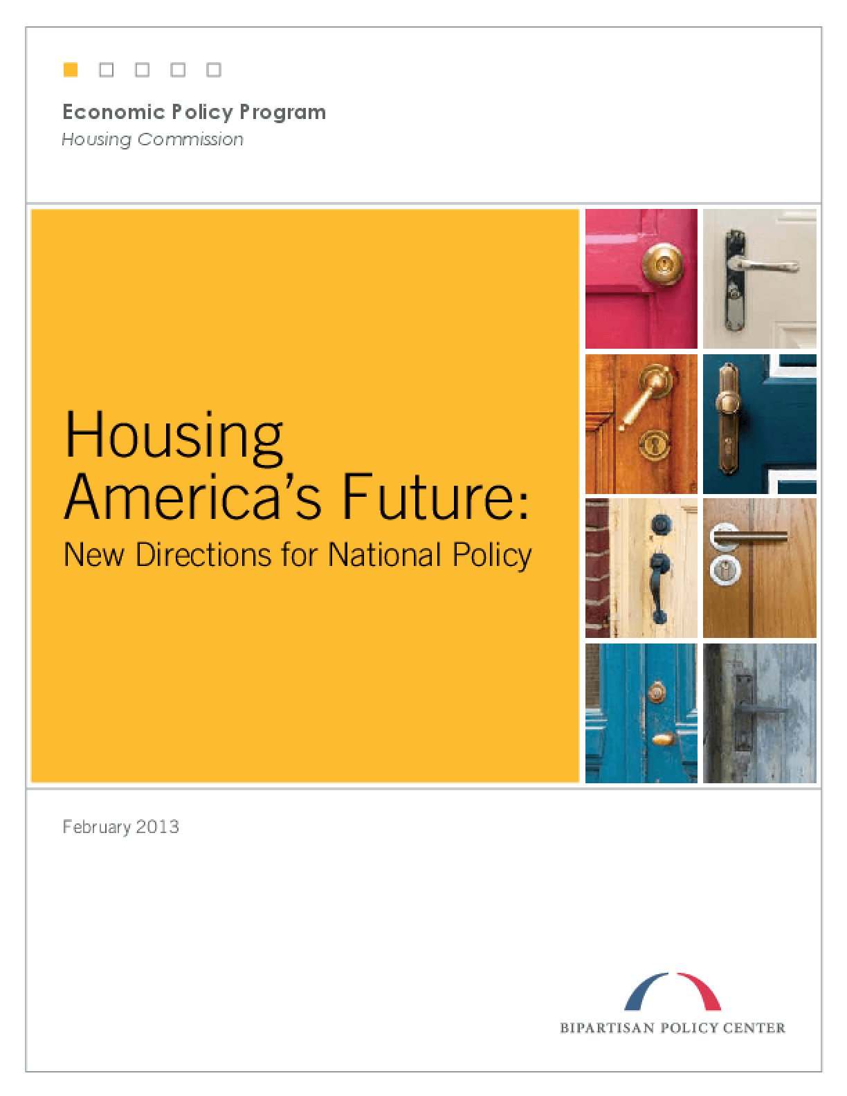Housing America's Future: New Directions for National Policy