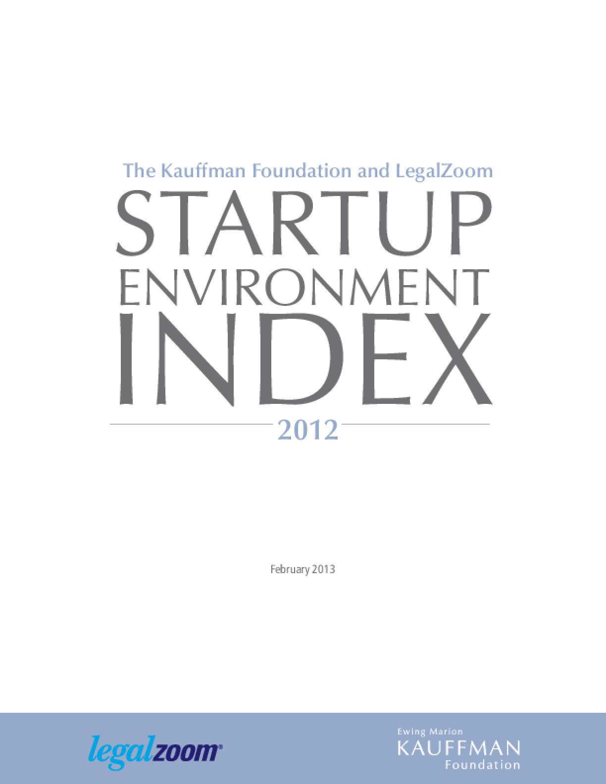 Startup Environment Index 2012