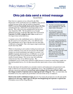 Ohio Job Data Send a Mixed Message