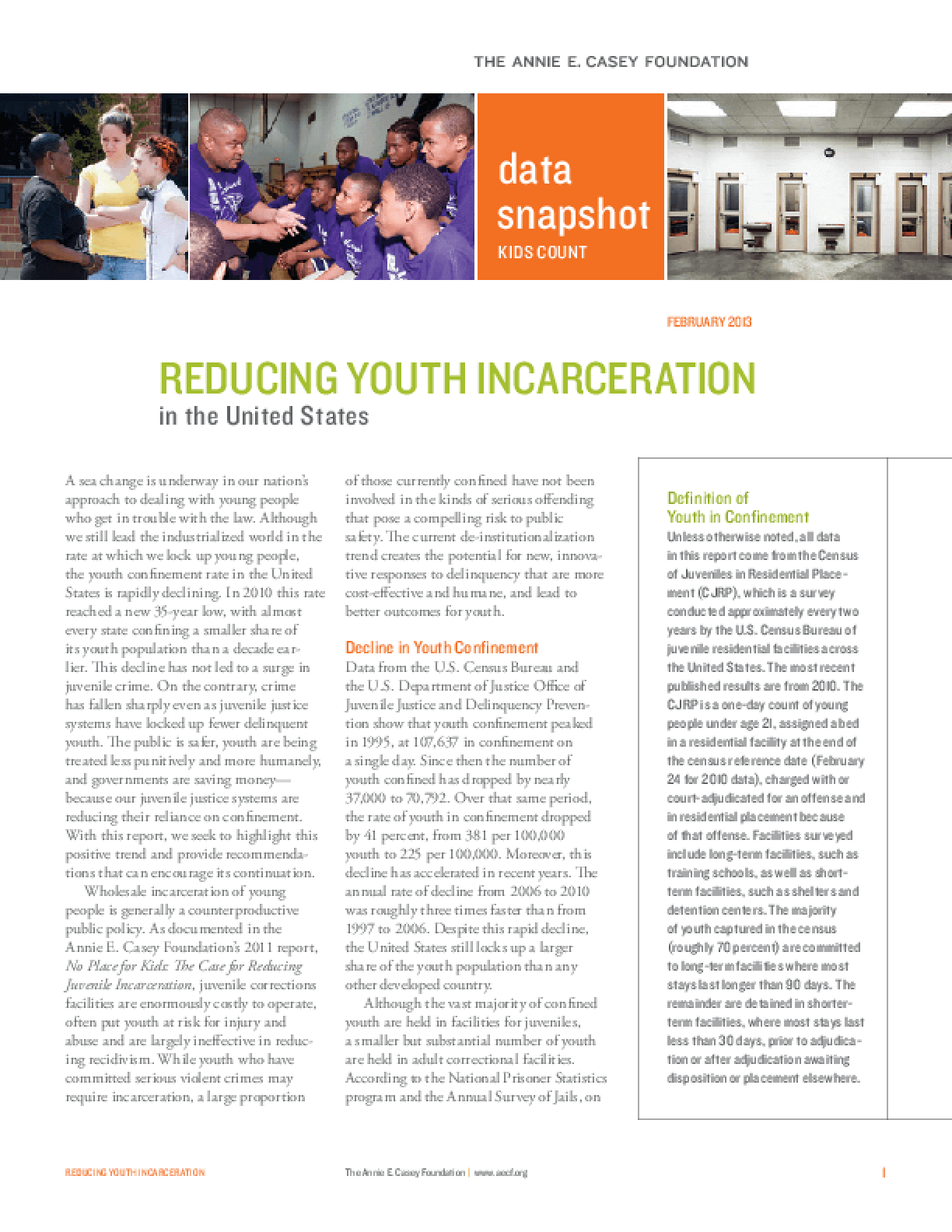 Reducing Youth Incarceration in the United States