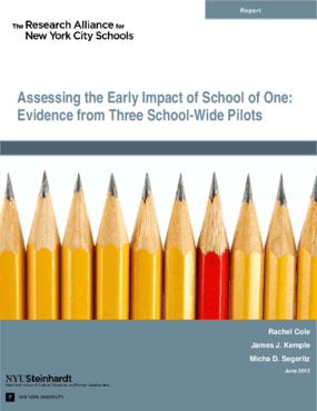 Assessing the Early Impact of School of One: Evidence from Three School-Wide Pilots