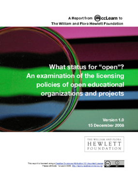 """What status for """"open""""? An examination of the licensing policies of open educational organizations and projects"""