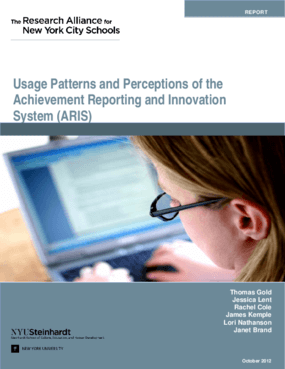 Usage Patterns and Perceptions of the Achievement, Reporting and Innovation System (ARIS)