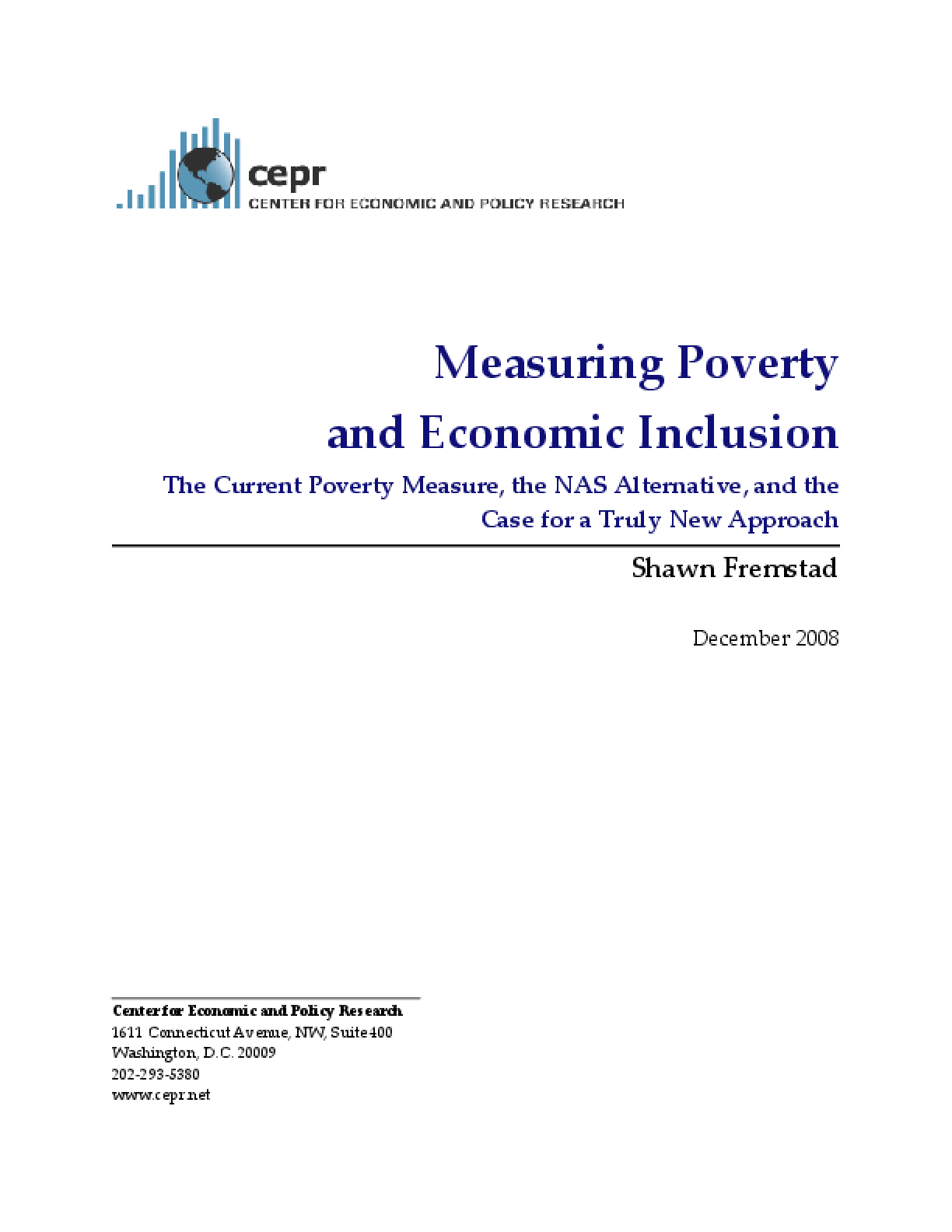 Measuring Poverty and Economic Inclusion