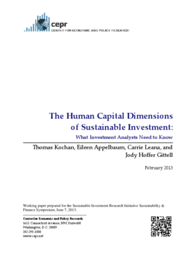 The Human Capital Dimensions of Sustainable Investment: What Investment Analysts Need to Know
