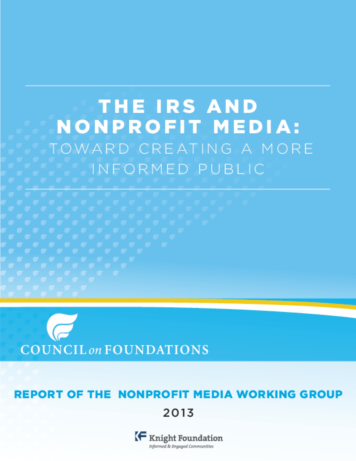 The IRS and Nonprofit Media: Toward Creating a More Informed Public