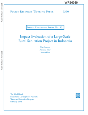 Impact Evaluation of a Large-Scale Rural Sanitation Project in Indonesia
