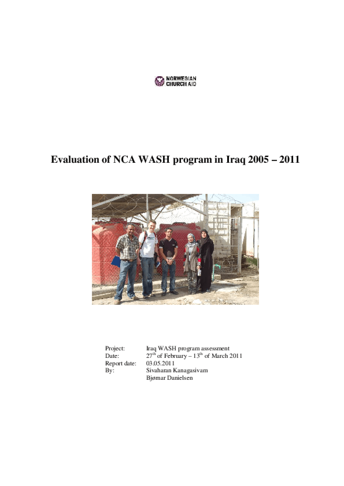 Evaluation of NCA WASH Program in Iraq, 2005-2011