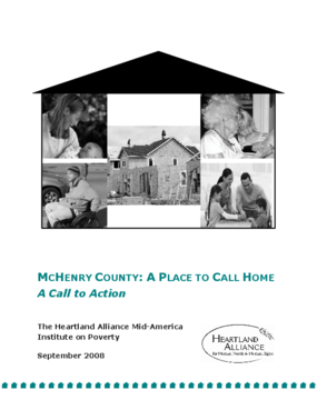 McHenry County: A Place to Call Home, A Call to Action