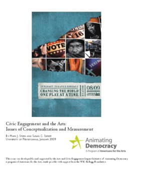 Civic Engagement and the Arts: Issues of Conceptualization and Measurement