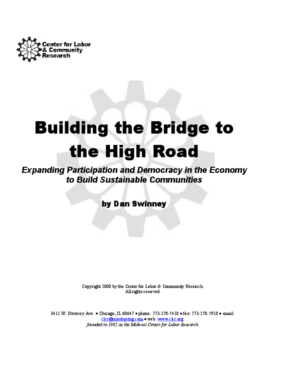 Building the Bridge to the High Road