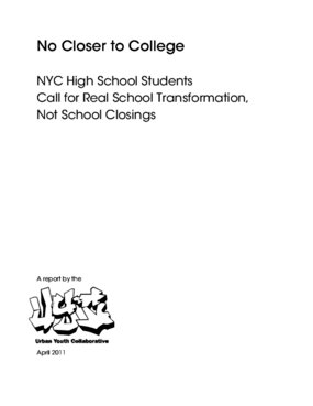 No Closer to College: NYC High School Students Call for Real School Transformation, Not School Closings