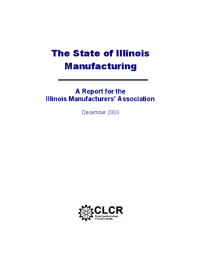 The State of Illinois Manufacturing