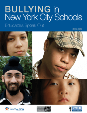 Bullying in New York City Schools: Educators Speak Out