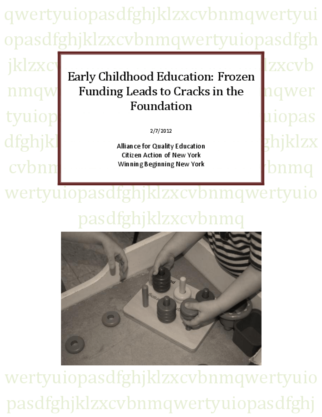 Early Childhood Education: Frozen Funding Leads to Cracks in Foundation