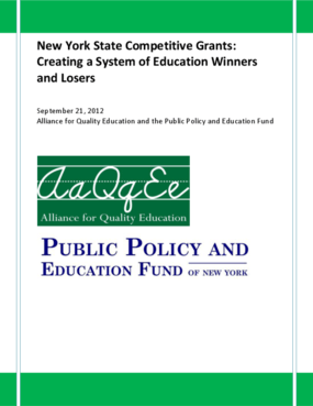 New York State Competitive Grants: Creating a System of Education Winners and Losers