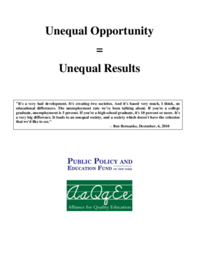 Unequal Opportunity = Unequal Results