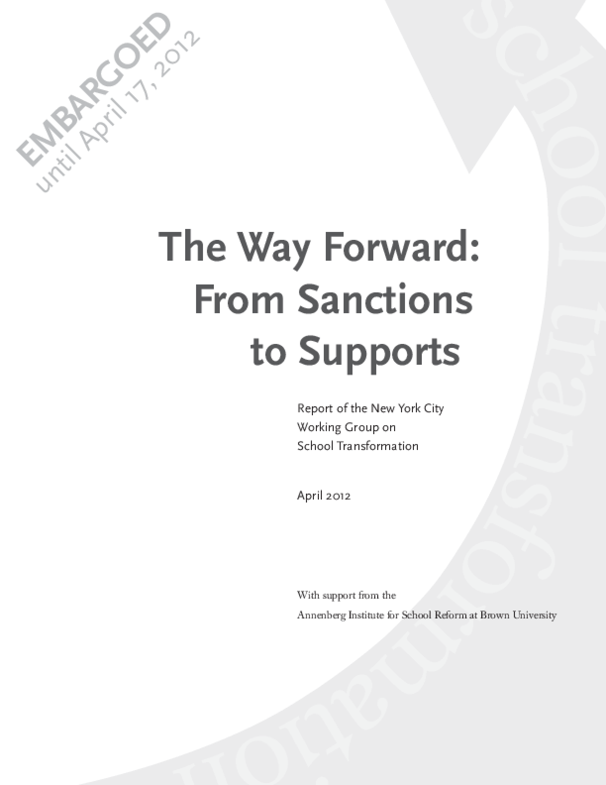 The Way Forward: From Sanctions to Supports
