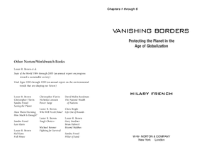 Vanishing Borders: Protecting the Planet in the Age of Globalization--Ch. 1-6