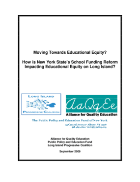 Moving Towards Educational Equity?: How is New York State's School Funding Reform Impacting Educational Equity on Long Island?