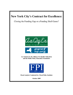 New York City's Contract for Excellence: Closing the Funding Gap or a Funding Shell Game?
