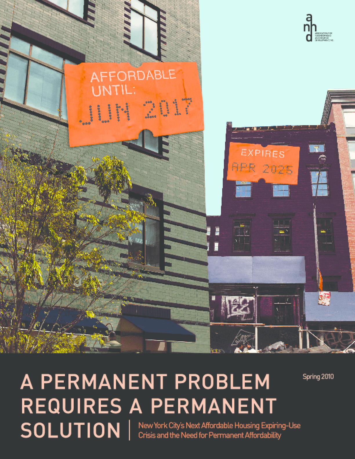 A Permanent Problem Requires A Permanent Solution
