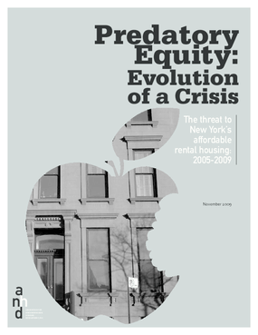 Predatory Equity: Evolution of a Crisis