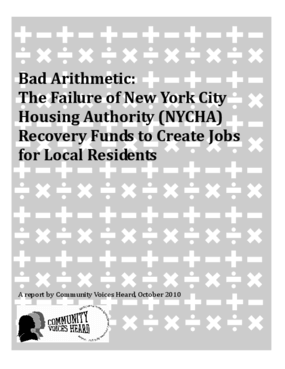 Bad Arithmetic: The Failure of New York City Housing Authority (NYCHA) Recovery Funds to Create Jobs for Local Residents