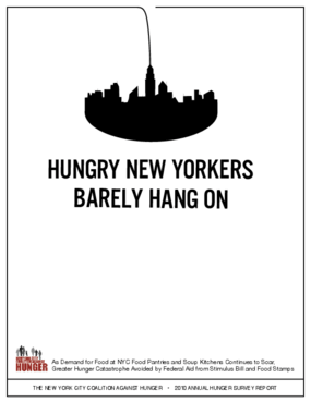 Hungry New Yorkers Barely Hang On