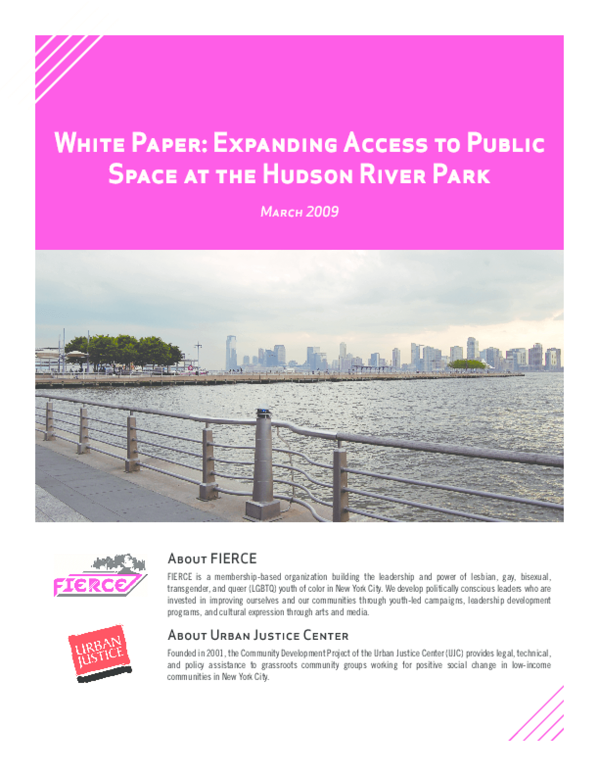 Expanding Access to Public Space at the Hudson River Park