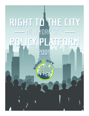 Right to the City: New York City Policy Platform