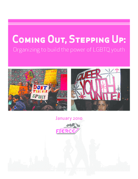 Coming Out, Stepping Up: Organizing to Build the Power of LGBTQ Youth