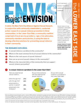 Project Envision: Community Needs Assessment - Lower East Side, Manhattan
