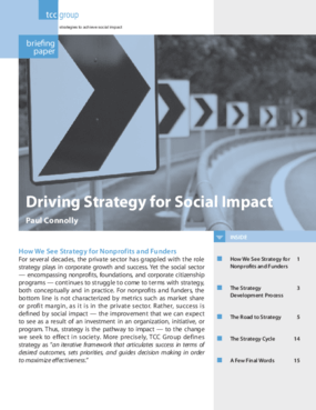 Driving Strategy for Social Impact
