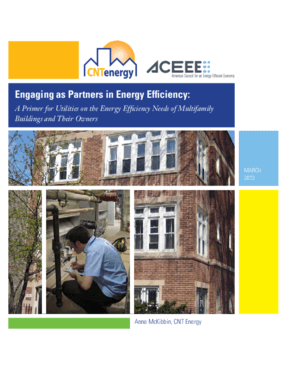 Engaging as Partners in Energy Efficiency: A Primer for Utilities on the Energy Efficiency Needs of Multifamily Buildings and Their Owners