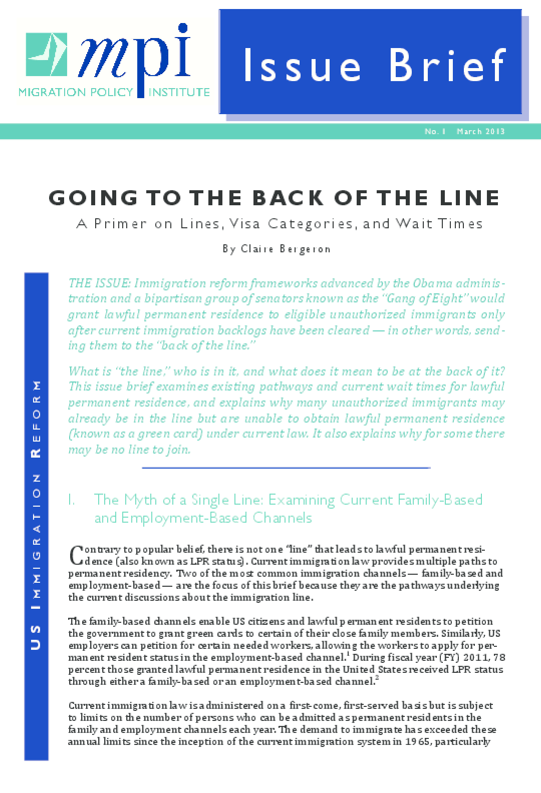 Going to the Back of the Line: A Primer on Lines, Visa Categories, and Wait Times