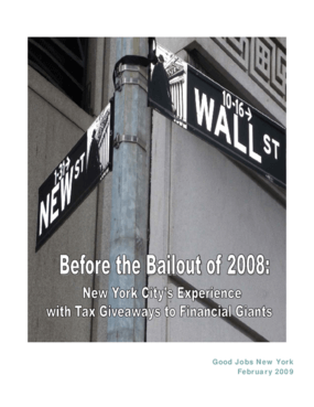 Before the Bailout of 2008: New York City's Experience with Tax Giveaways to Financial Giants