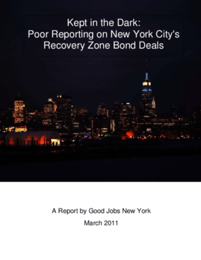 Kept in the Dark: Poor Reporting on New York City's Recovery Zone Bond Deals