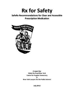 Rx for Safety: SafeRx Recommendations for Clear and Accessible Prescription Medication