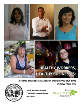 Healthy Workers, Healthy Businesses: A Small Business Analysis of Earned Paid Sick Time in New York City