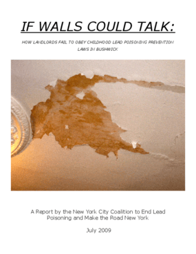 If Walls Could Talk: How Landlords Fail to Obey Childhood Lead Poisoning Prevention Laws in Bushwick
