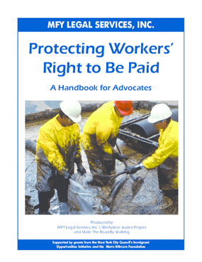 Protecting Workers' Right to Be Paid: A Handbook for Advocates