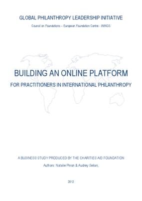 Building an Online Platform for Practitioners in International Philanthropy